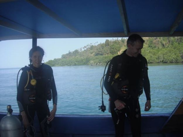 Scuba boat. Bunaken