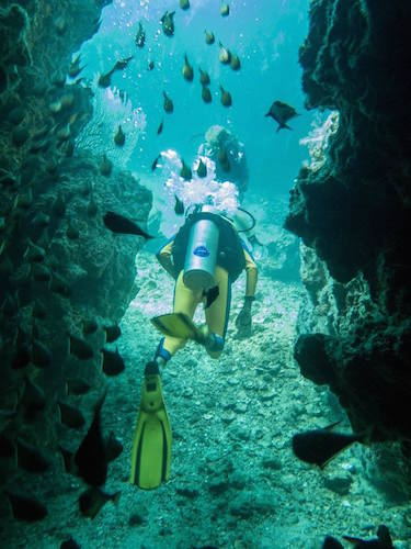 Underwater passageway.