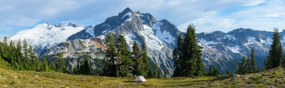 Mt. Challenger and Whatcom Peak panorama
