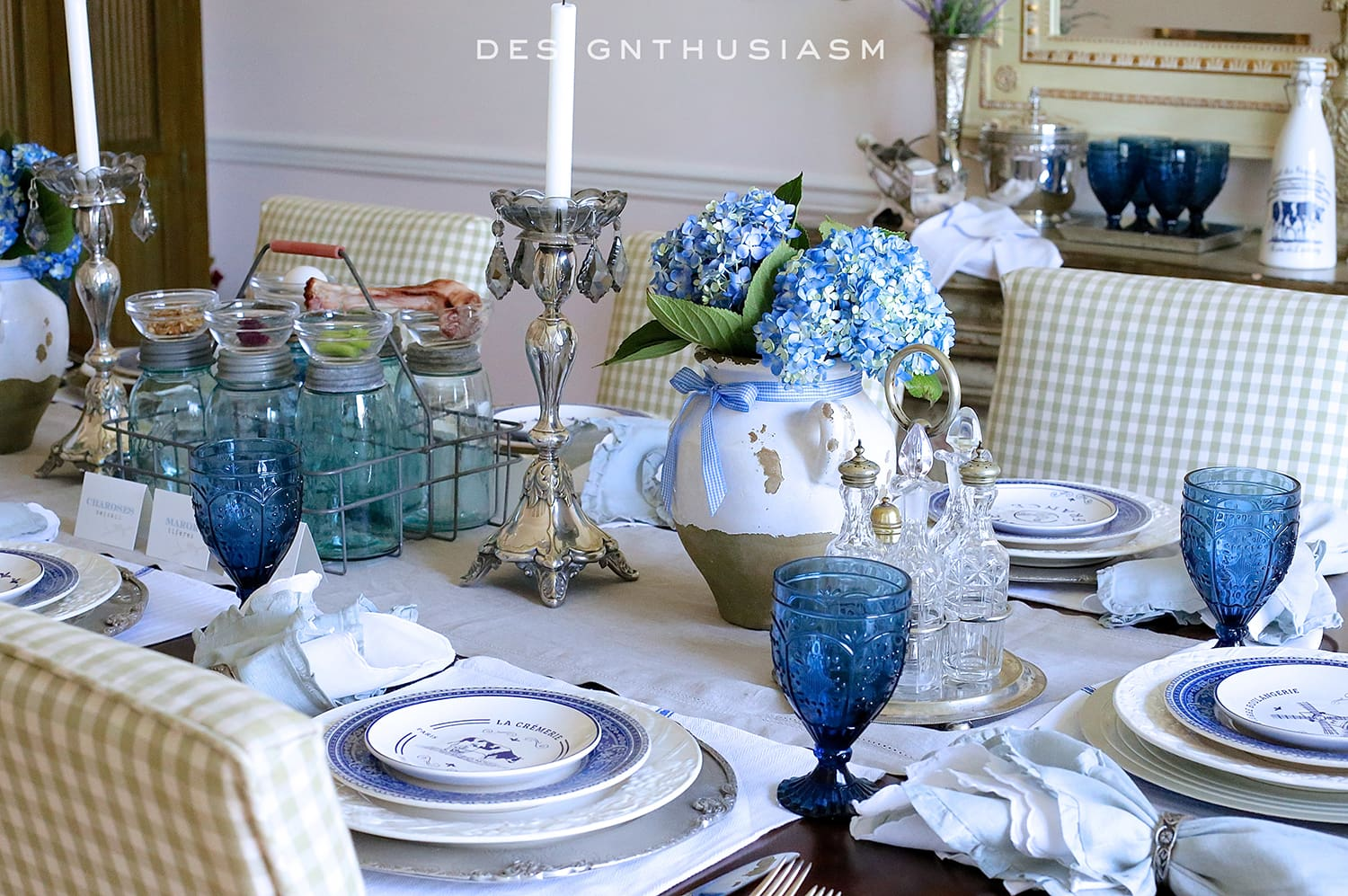 Tischdeko Navy Country French Blue And White Tablescape