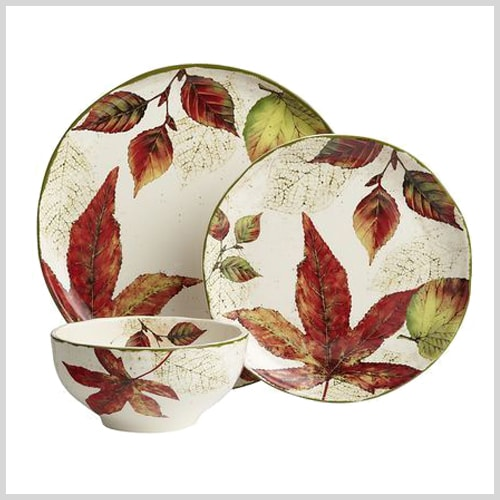 Hall Dinnerware Autumn Leaf ...  sc 1 st  Castrophotos & Leaves Dinnerware - Castrophotos