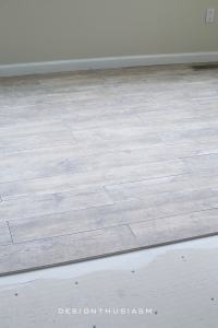 Adding a Faux Wood Tile Floor in the New Kitchen