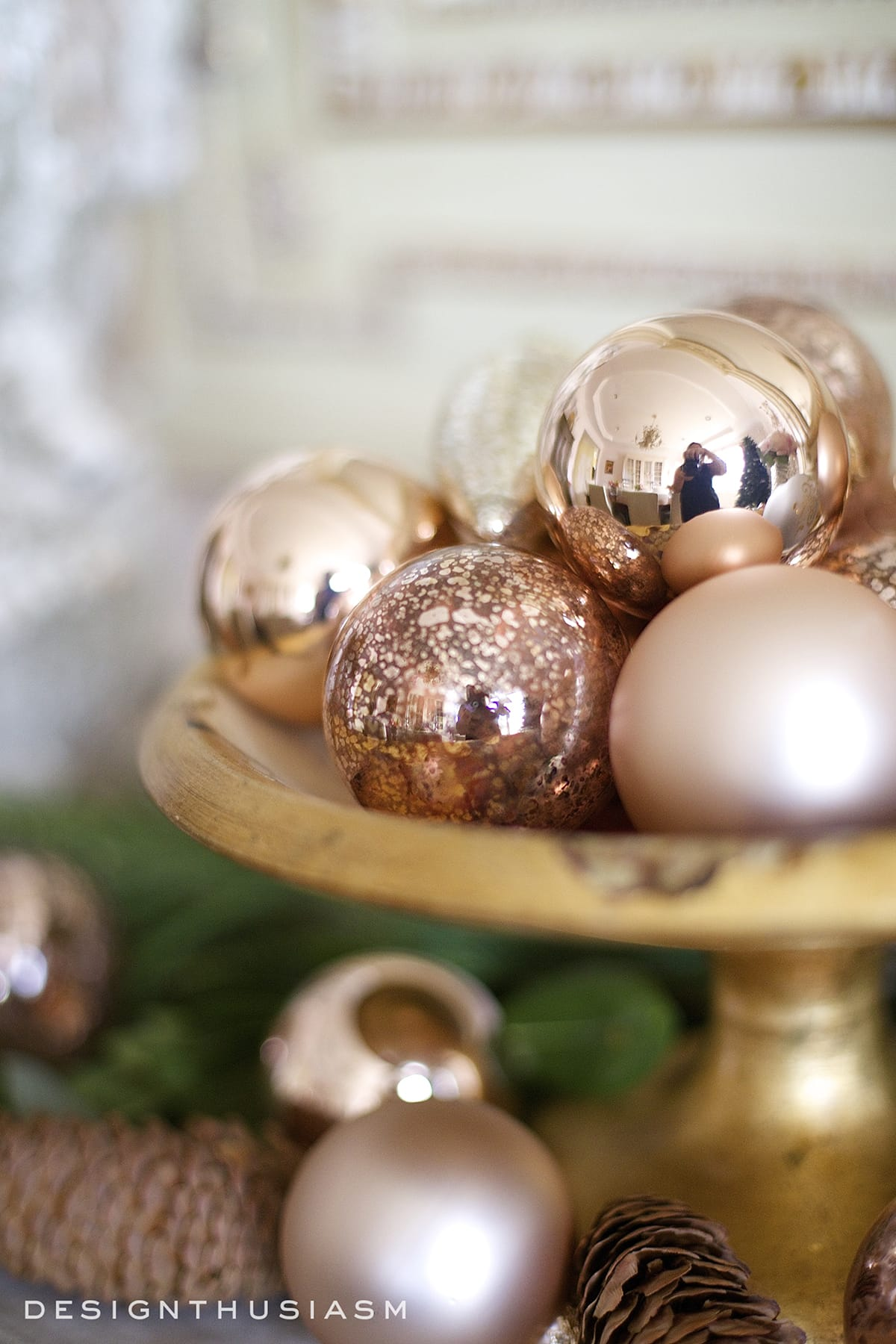 Rose Gold Decor How To Use Rose Gold Christmas Decor For The Holidays