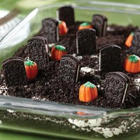 Halloween Treats - Cemetery Cookie Dessert