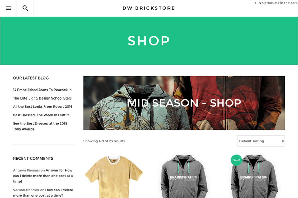 Dw Shop Wordpress Shop Theme Dw Brickstore Designwall