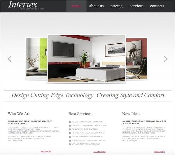 Interior Design Website Templates Will Spice Up Your Life - interior design web template