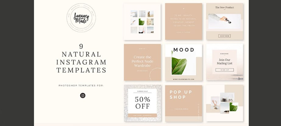 Instagram Post Template Bundles Trendy Layouts for Insta Feed  Stories