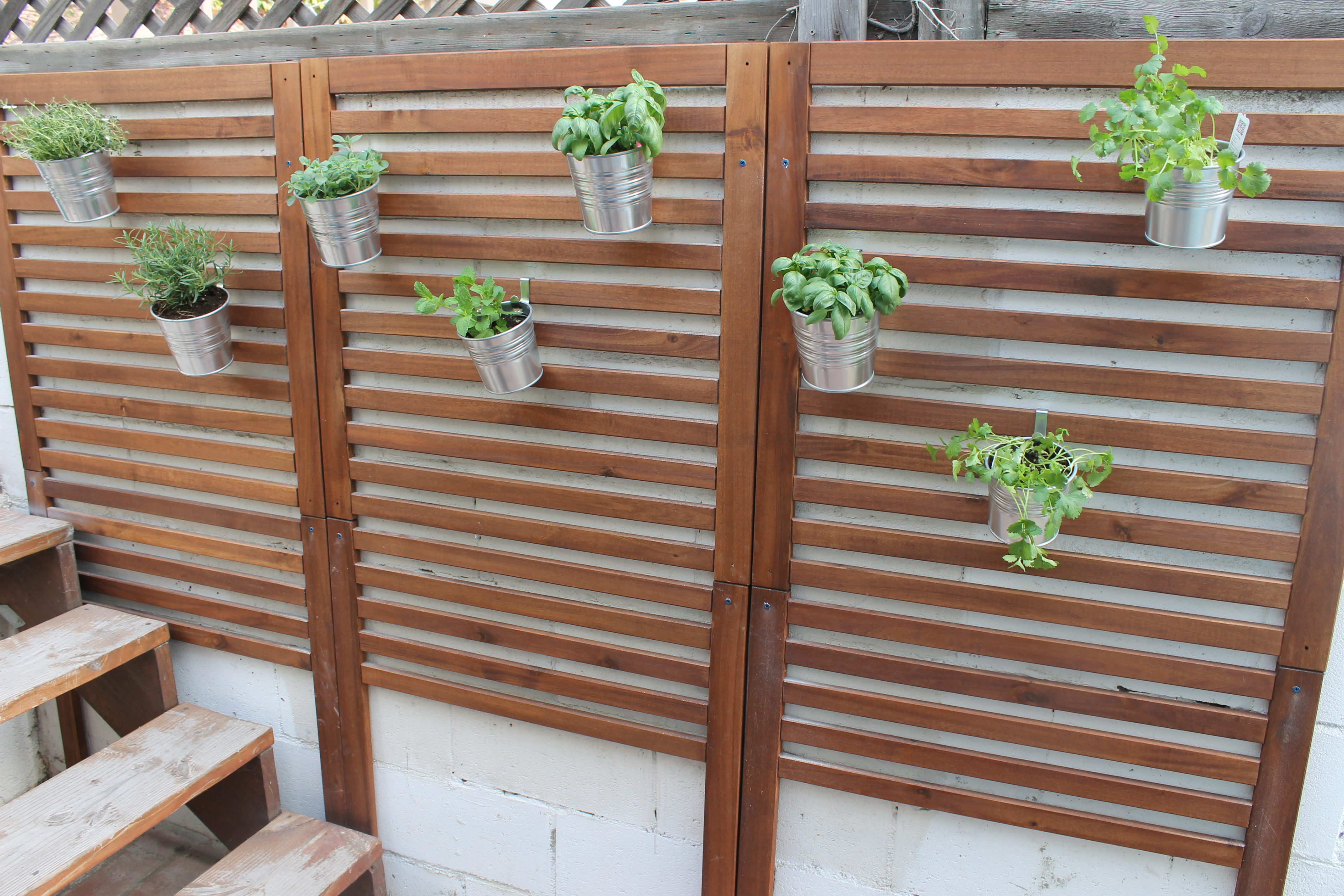 Ikea Herb Planters Weekend Project Patio Garden