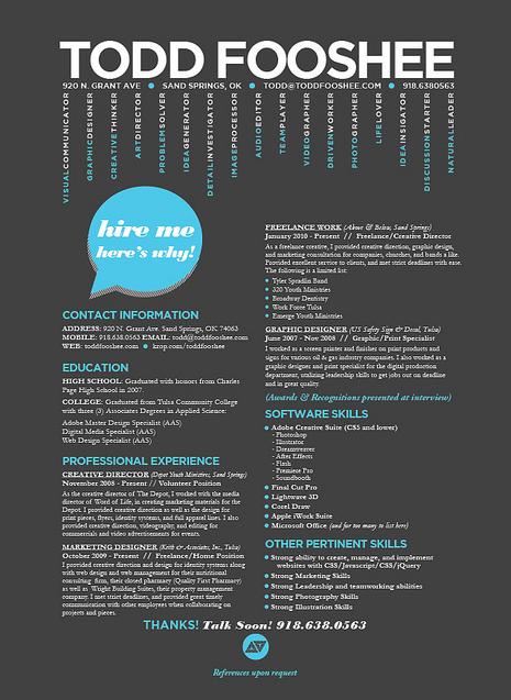 Resume Inspiration 30 Super Cool  Creative Resume Designs - resume design inspiration