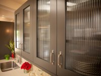 Glass cabinet shutter for your modular kitchen