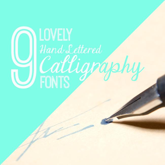 Lovely hand lettered calligraphy fonts for feminine