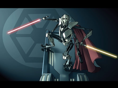 Lord Of War Shums General Grievous - Star Wars Drawings And Illustrations