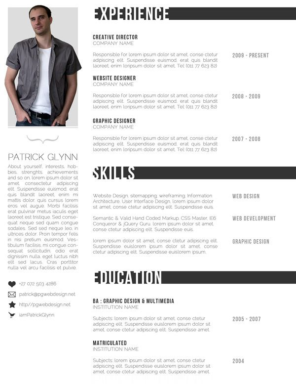 Great Resume Templates For Microsoft Word Free Resume Templates For Creative Minds