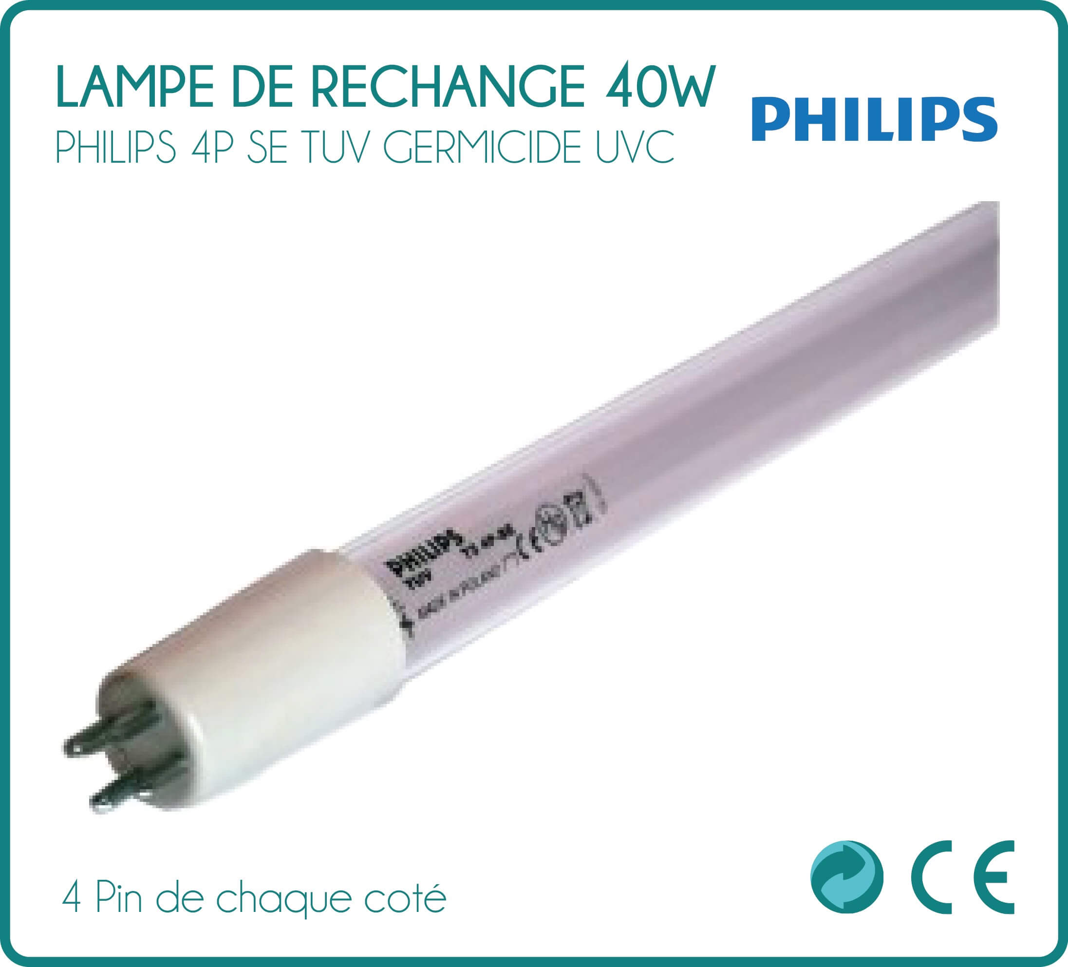Lampe 40w For Uv Sterilizer Replacement Lamp