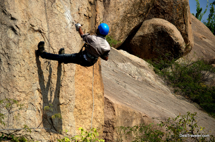 Rock Climbing Rappelling India
