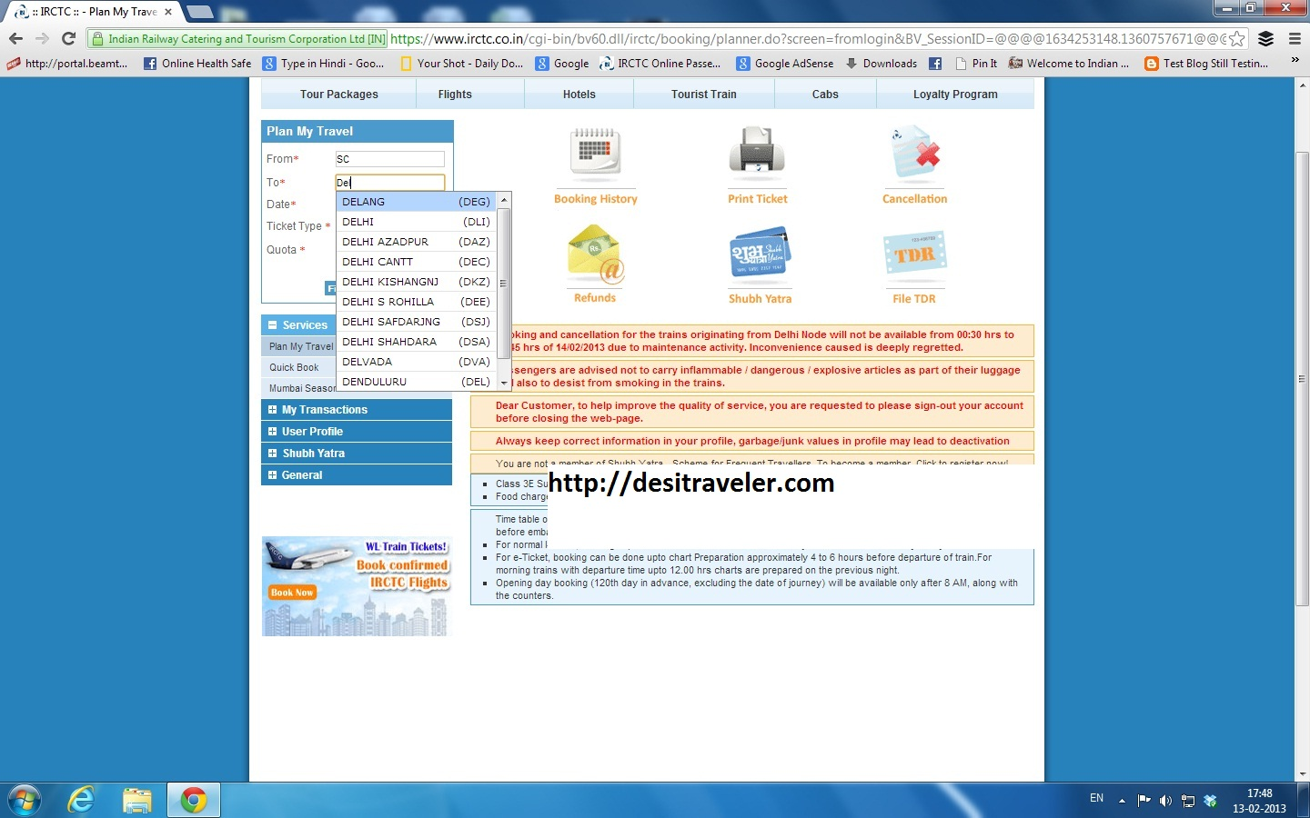 Booking Site 7 Steps To Book Tatkal Railway Ticket Online On Irctc Website