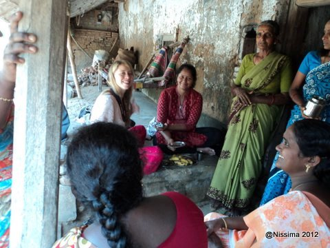 Bhavana Nissima with rural women in a village