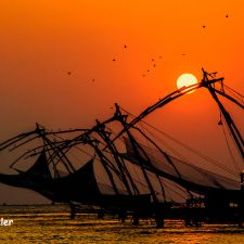 Sunset over Chinese Fishing Nets Cochin