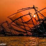 Sunset over Chinese Fishing Nets Cochin