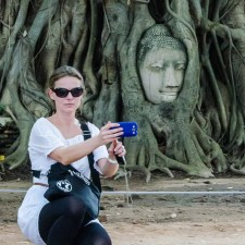 Buddha Head In Tree Roots- Amazing Thailand