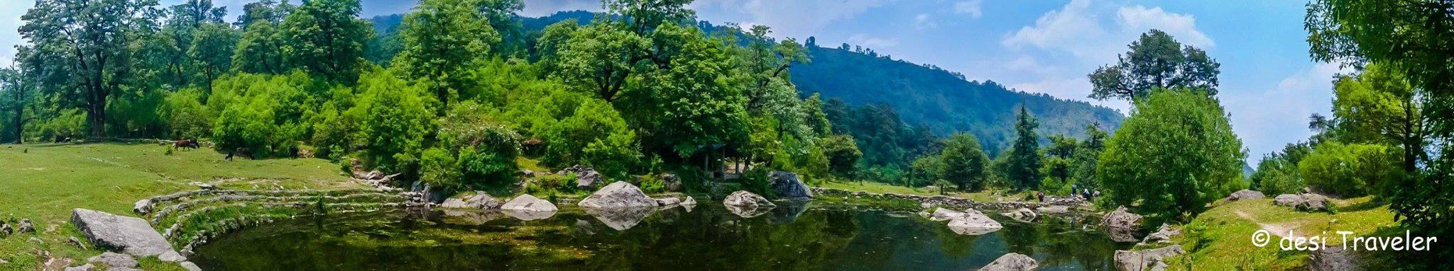 Maheshwari Kund Munsyari panorama view