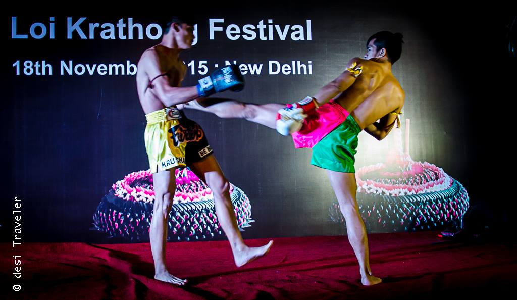 Muay Thai kick boxing demo