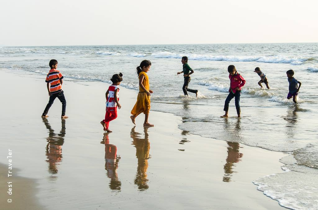 kids playing on goa beach Child Rescue Center El Shaddai