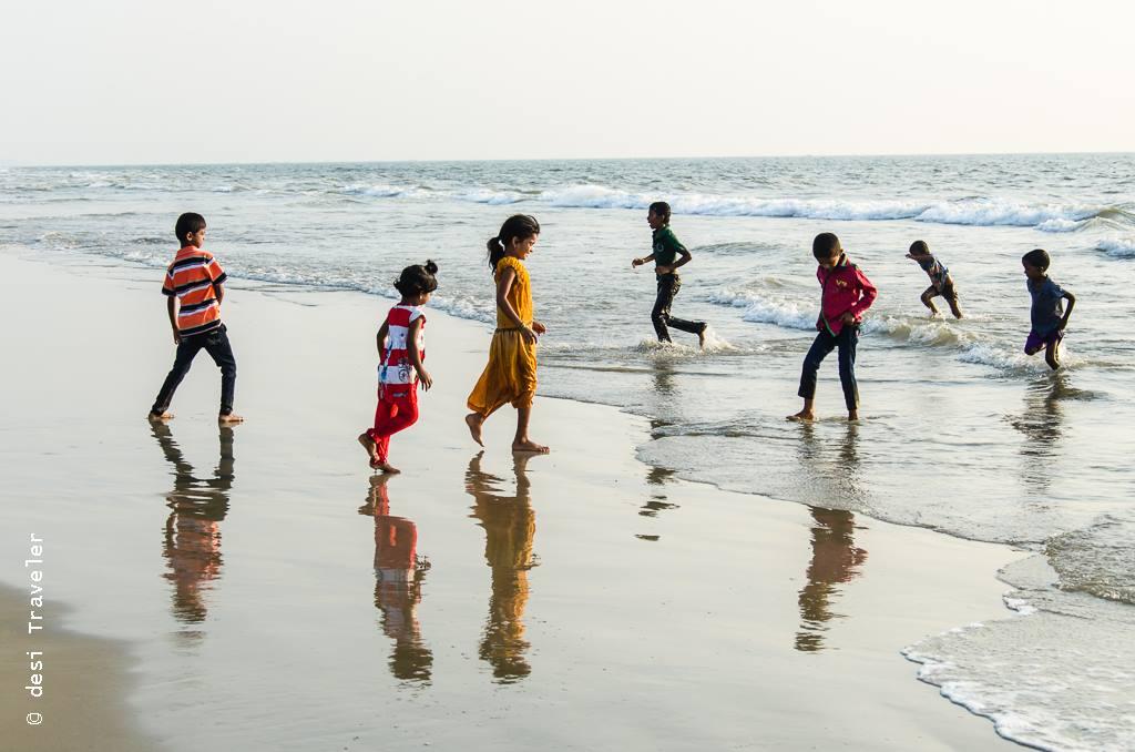 kids playing on goa beach Child Rescue Center El Shaddai