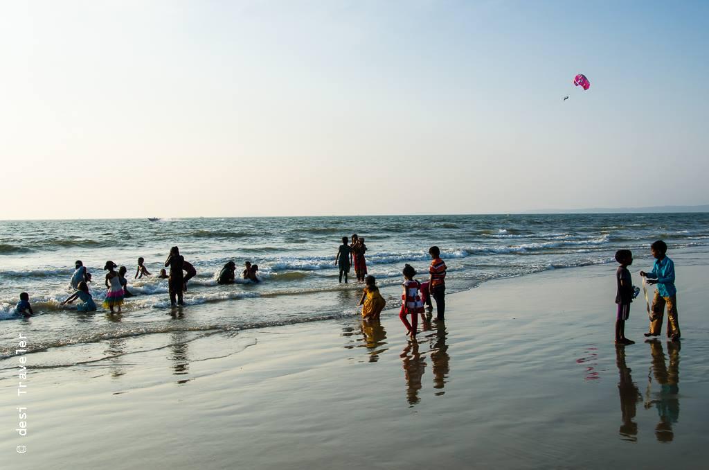 Child rescue net kids playing on Goa Beach