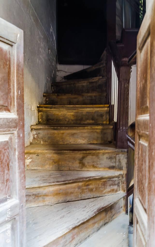 Wooden Staircase Amritsar Heritage Walk Davinder Singh
