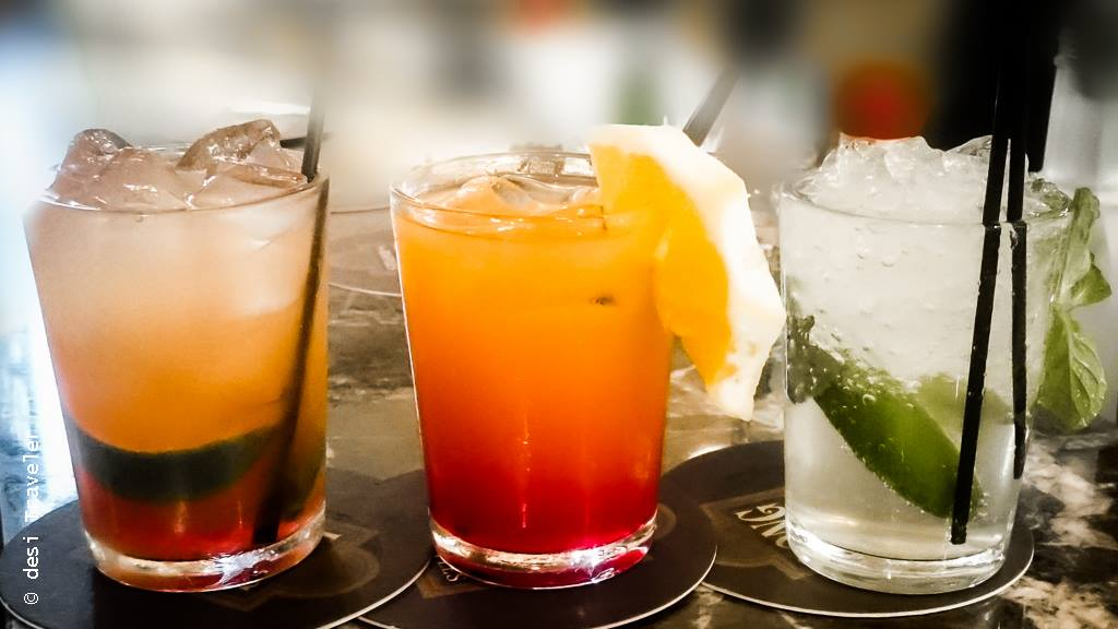 Free mocktails at Raffles Long Bar Changi Airport
