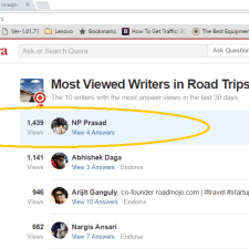 Most Viewed Writer on Quora