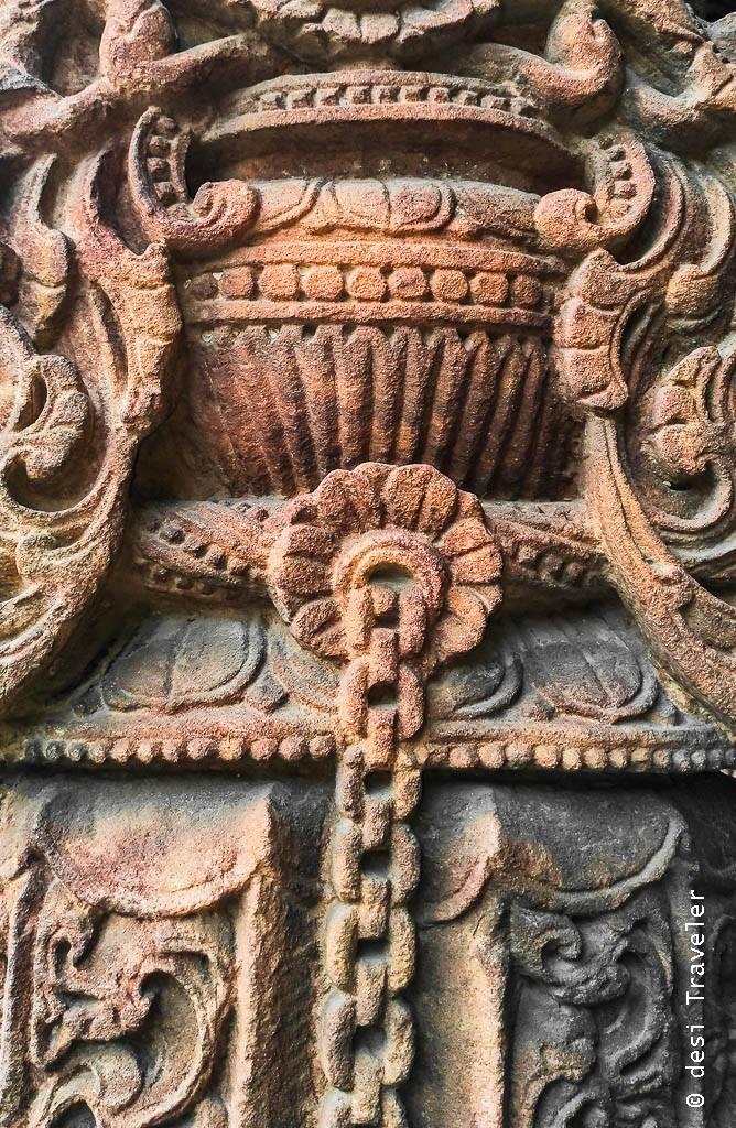 Qutub Minar Stone work Hindu Symbols