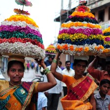 Bathukamma Festival of Flowers Telangana by Chandrasekhar Singh