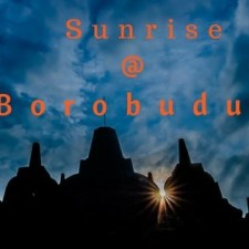 Watching Sunrise at Borobudur - UNESCO World Heritage Site Indonesia