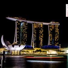 August 2016 Calendar Desktop Wallpaper - Marina Bay Sands Singapore