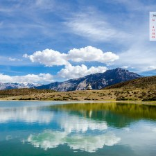 September 2016 Calendar Desktop Wallpaper - Dhankar Lake Spiti