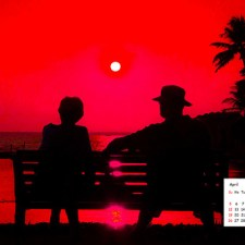 April 2015 Calendar- Download Desktop Wallpaper