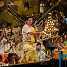 Evening Ganga Aarti at Varanasi Dashashwamedh Ghat