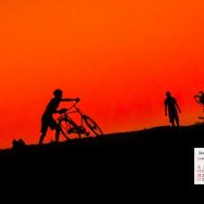 August 2017 Calendar Download Desktop Wallpaper Majuli Island Assam India