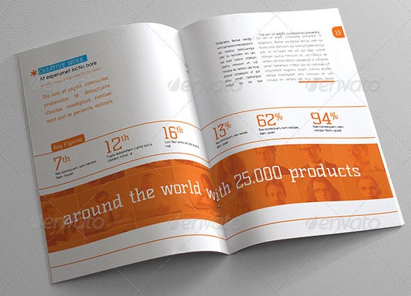 20+ Professional InDesign Annual Report Templates \u2013 Desiznworld - annual report template design