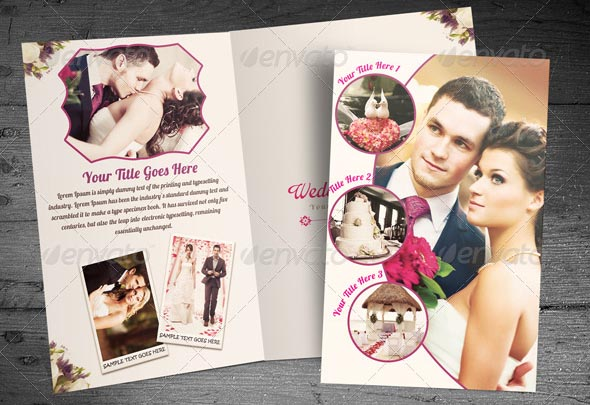 20+ Beautiful Wedding Brochure Templates \u2013 Desiznworld - wedding brochure template