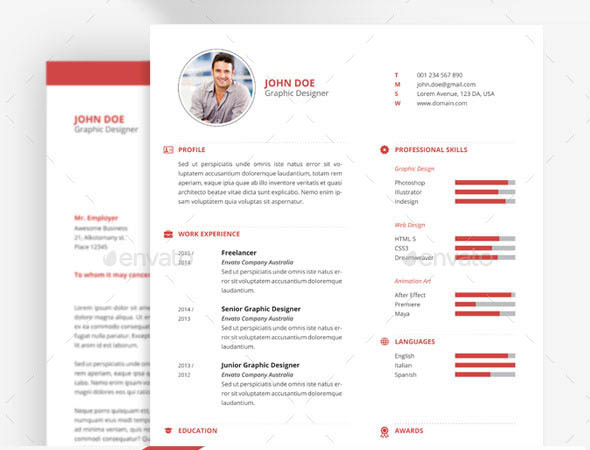 swiss cv template