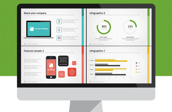 45 Cool Flat PowerPoint Templates \u2013 Desiznworld