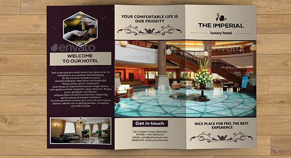 Hotel Brochure Design Templates Gallery - Template Design Free Download