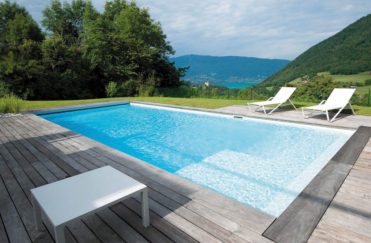 Pool Im Garten Mit Gegenstromanlage Pool Bildgalerie Swimmingpool Referenzen Desjoyaux Pools