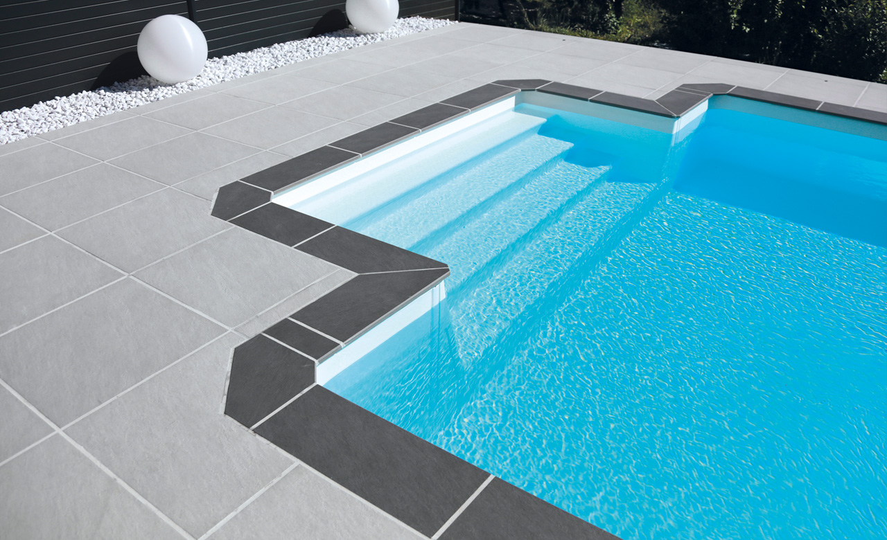 Pool Mit Umrandung Pool Randsteine Desjoyaux Pools