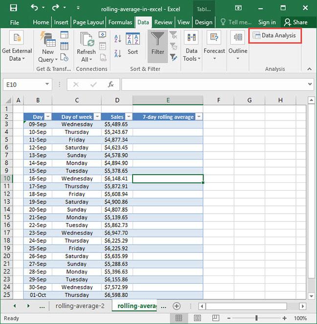 Finding A Rolling Average In Excel Deskbright