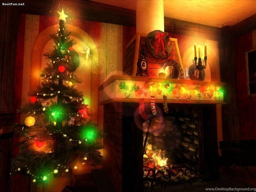Christmas Fireplace Wallpaper Free Christmas Fireplace Wallpapers Wallpapers Cave Desktop Background