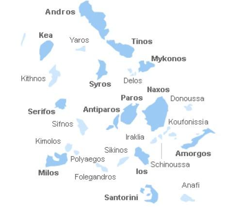 Ilhas Cíclades Grécia